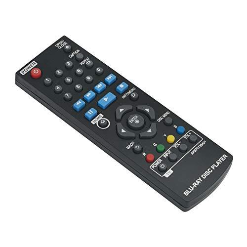 AKB75135401 - Mando a distancia de repuesto para reproductor de DVD LG Blu-ray Disc BP125, BP125N, BP135, BP145, BP145N, BP155N, BP165, BP165N, BP240, BP240D, BP240N, BP250, BP255, BP255N, BP255-N, BP300, BP335 y BP335W