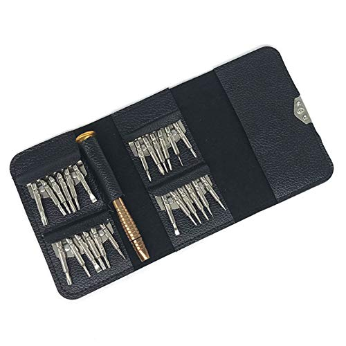 25 in 1 Screwdriver Set Screwdriver Tools Repair Kit, Precision Screwdriver Set with Leather Case for Mobile Phone Laptop Watch Electronic Workshops Glasses