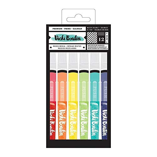 American Crafts Vicki Boutin Mixed Media Watercolor Markers 12/Pkg