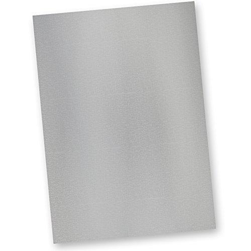 TATMOTIVE 61-0050 Briefpapier Silber EXKLUSIV DIN A4 297 x 210 mm / 120 g/qm / 50 Blatt Tonpapier