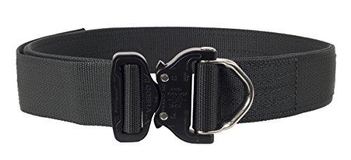 Elite Survival Systems ELSCRB-B-M Cobra Rigger's with D Ring Buckle Belt, Black, Medium