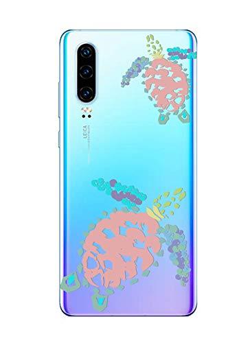 Suhctup Coque Compatible pour Huawei Y5 2018 Transparente en Silicone,Étui en Souple TPU Motif Animale Ultra Fine Antichoc de Protection Housse Bumper Case Cover pour Huawei Y5 2018,A12