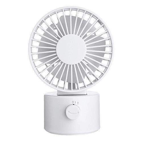 Mini VentiladorVentilador Silencioso De Escritorio Recargable Mini USB De 1.2W 2 Modos Ventilador De Enfriamiento Oscilante De Velocidad Del Vientopara Exterior (Size:102 X 80 X 151 Mm; Color:White)
