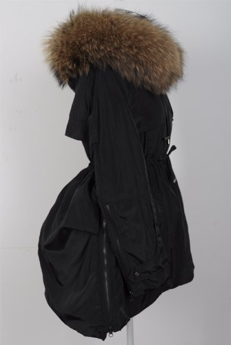 『ファッションコート 大きいアライグマの毛皮の襟』の5枚目の画像