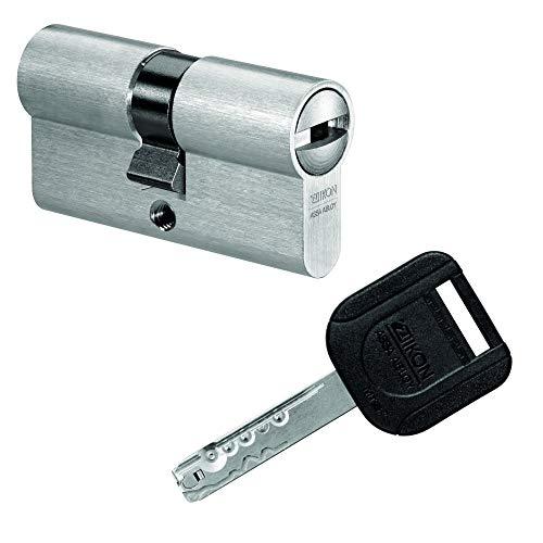 IKON R10 Doppelzylinder mit Not- und Gefahrenfunktion 40/31 inkl. 5 Schlüssel - Sicherheits-Türzylinder - Sicherungskarte - Wendeschlüssel (Gleichschließung)