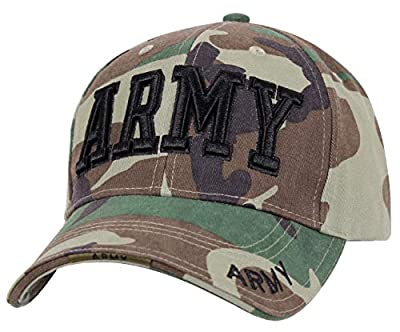Rothco Deluxe Army Embroidered Low Profile Insignia Cap, Woodland Camo, One Size