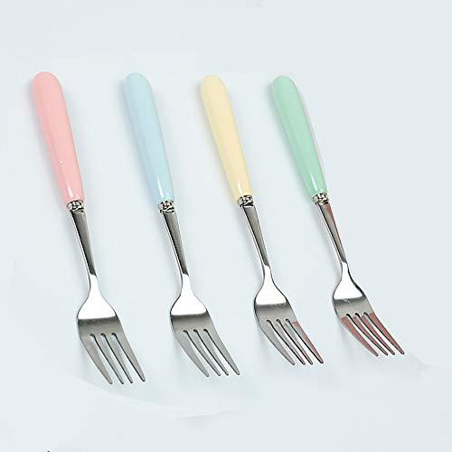 LOKIH Tenedores De Mesa Cubiertos Acero Inoxidable 304, Tenedor para Cena Tenedores para Carne Tenedores para Carne Tenedor...