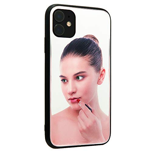 [Updated Version] Real Mirror Case Luxury Clear Back Mirror Shock-Absorption TPU Bumper Case Anti-Scratch Bright Reflection Protective Case Cover for Apple iPhone (11)
