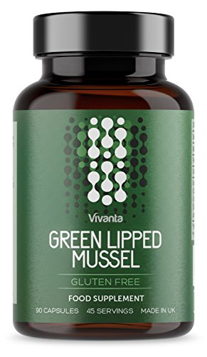 Green Lipped Mussel - 1000mg Per Serving | 45 Servings | Gluten Free, Made in The UK | Green Lipped Mussels Powder