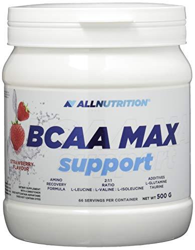 All Nutrition BCCA Max Soporte Proteína Carbohidratos Complejo Entrenamiento Musculturismo Polvo, Fresa 500 g