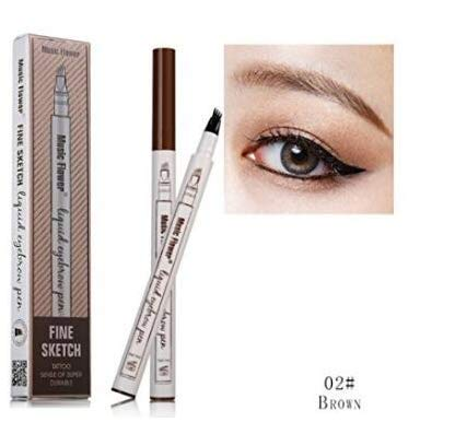 FangSi Tattoo Eyebrow Pen with Four Tips Long-Lasting Waterproof Brow Gel for Eye Makeup