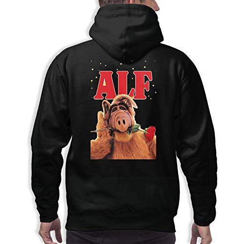 Herren Hoodie Sweatshirt Jugend Adult Sweater Langarm Schnelltrocknend Wild Casual Hip Hop Alf Cartoon