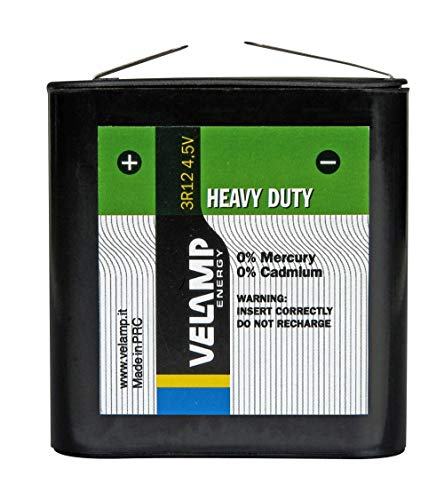 Velamp 3R12/1BP 3R12 Flache 4,5-V-Batterie, Zink-Carbon-Technologie. Ideal für Fälle, 4.5 V, Grün