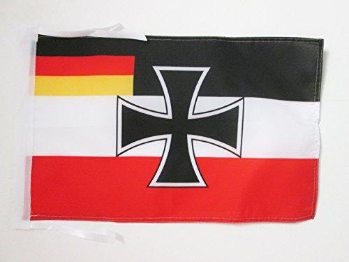 AZ FLAG Bandera de la REPÚBLICA DE Weimar DE Guerra 45x30cm - BANDERINA Fuerzas Armadas DE Alemania 30 x 45 cm cordeles