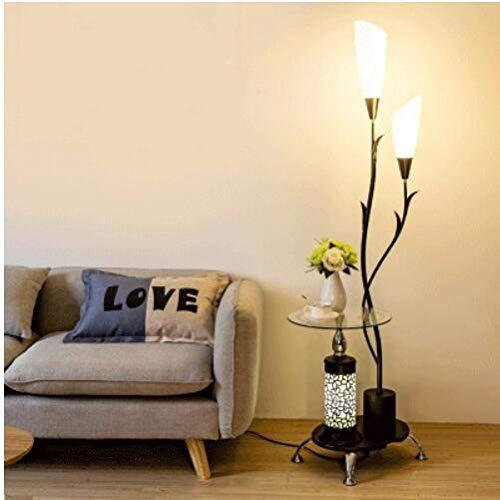 GUONING-L Moderno Nórdico de escritorio del dormitorio de piso Lámpara de pie moderna de luz LED Estudio de la sala de estar de pie Lámpara de la luz del soporte de la decoración industrial de luminar