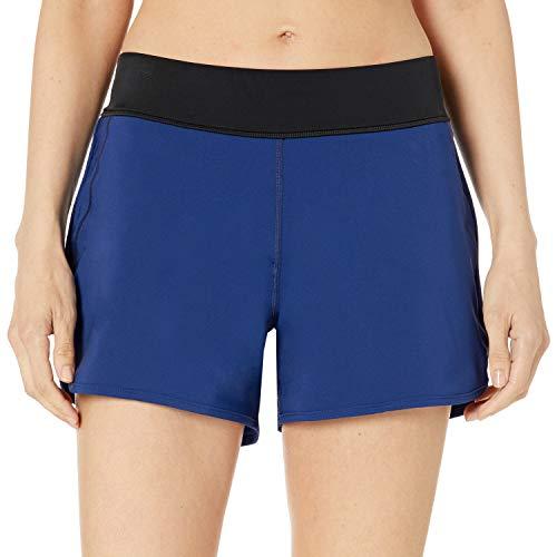 Amazon Essentials Women's Woven Swim Short Traje de baño, Azul Marino, XXL