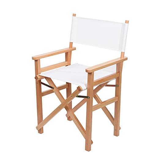 FGDJ Lagerung Folding Director Chair, Outdoor Sketching Freizeitstuhl Balkon Massivholzbarstuhl, Tragbarer Multifunktionaler Klapphocker, Geeignet Für Innen, Outdoor, Picknick, Bar,1