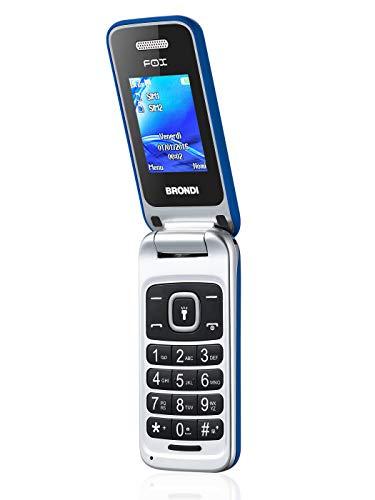 BRONDI Fox - Cellulare BRONDI Gsm con apertura a conchiglia, Display a colori da 1.77'', 128x160 pixel, Azzurro