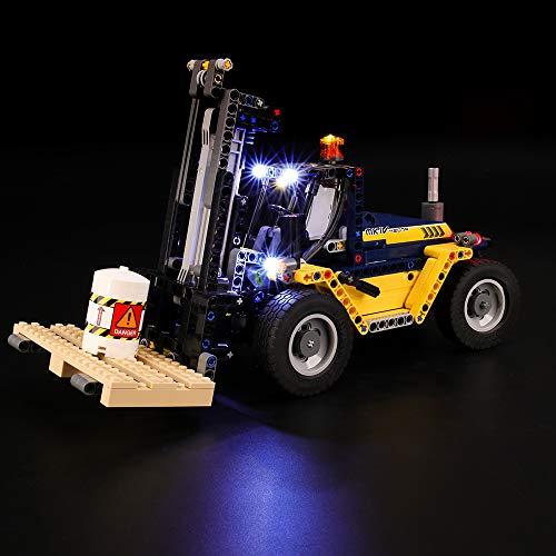 BRIKSMAX Led Beleuchtungsset für Lego Technic Schwerlast-Gabelstapler, Kompatibel Mit Lego 42079 Bausteinen Modell - Ohne Lego Set