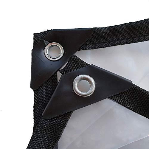 LQQ Abdeckplanen 500g/㎡ Industrielle wasserdichte Zeltabdeckung-klare Hochleistungsplane mit Ösen, LKW-Bootsabdeckplanen, Größe Gewohnheit (Size : 5×6m)