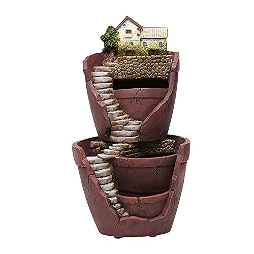 FLAMEER Flower Cactus Planter Planter Pot Succulent Flower Pot Miniature Resin House Kit Micro Landscape Decoration
