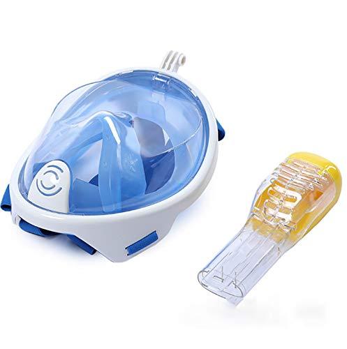 LJTT Máscara de Buceo Máscara de Snorkeling Full Seco Adulto Silicona Gafas de Buceo Equipo de Snorkel