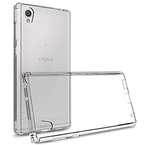 NOVAGO Compatible avec Sony Xperia L1- Coque Souple Transparente et résistante Anti Choc (2017 5.5'')