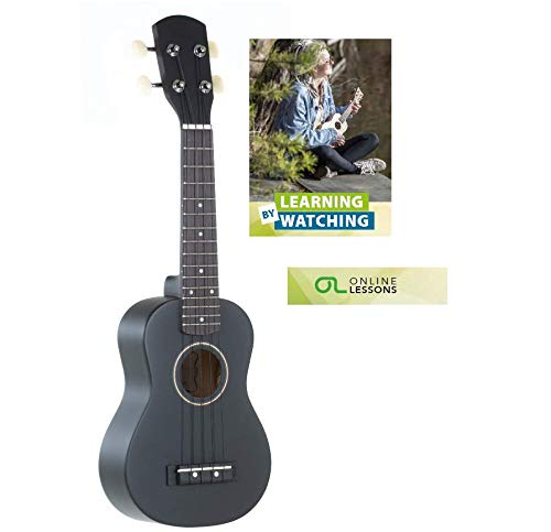 GEWApure PS512822 Ukelele soprano Almeria negro mate