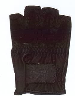 LEZAX(レザックス) JOYFIT ドライビンググローブ 半指合皮メッシュ 黒 28