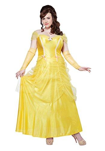 Plus Size Classic Beauty Costume - 3X Yellow