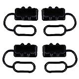 4 x Gummiabdeckung, schwarz, 50 A Stecker Schutzkappe Staubschutz für Anderson Stecker Abdeckung für Anderson 50 A DC Netzstecker