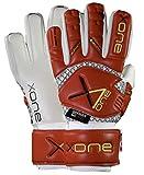 x one Pro Safe Junior - Guantes de portero para niño, corte negativo, color rojo, talla 6