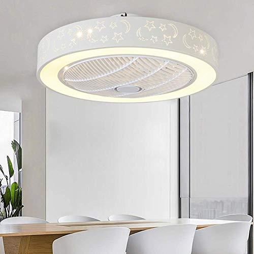 KFDQ Luces de techo con ventilador LED, ventilador de montaje empotrado interior ajustable de tres velocidades, luces de techo redondas para baño, dormitorio, cocina, pasillo, oficina, escalera, come