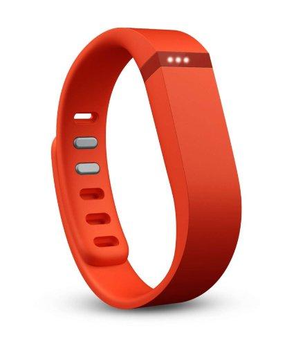 Fitbit Flex - Pulsera de actividad y sueño inalámbrica unisex (con indicador led y podómetro), color mandarina, talla S / L
