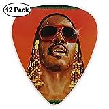 Stevie Wonder Classic Cool Medium Picks, regalo perfecto para guitarra y amante-TF1-73A