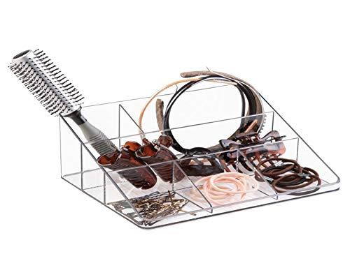 iDesign Linus opbergsysteem voor brieven en kantoorartikelen, brievenbakje van kunststof, opbergvak voor het bureau of de plank, doorzichtig