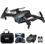 Goolsky Drone GD89 Pro RC con Cámara 4K Modo Flujo óptico Cámara Dual Automático Evitar obstáculo Sensor de Gravedad Vuelo en Pista, Modo sin Cabeza 3D Flip RC Quadcopter para Adultos Niños 2 Batería