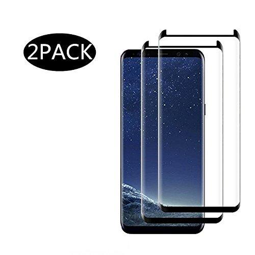 Solocil 2 Stück Galaxy S8 Plus Schutzfolie, Displayschutzfolie für Samsung Galaxy S8 Plus Panzerfolie Displayschutz Gehärtetem Glass 9H Härtegrad, Anti-Kratzen, Einfaches Anbringen