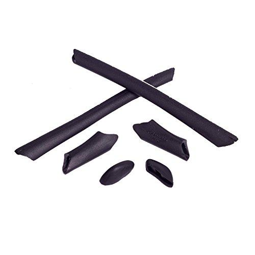 Walleva Earsocks and Nose Pads for Oakley Half Jacket/Half Jacket XLJ (Black)