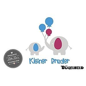 Bügelbild Aufbügler Gechwister Schwester Elephant Luftballon Balloon Zoo in Flex, Glitzer, Flock, Effekt in Wunschgröße
