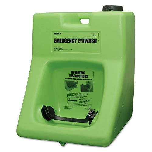 Honeywell Safety Products USA 16 Gallon Fendall Porta Stream II Portable Eye Wash Station with 180 Ounce Saline Cartridge