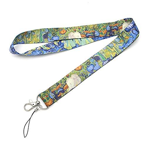 cordón parateléfono Cool Neck Strap Monet cordón para cámara silbato insignia de identificación lindos regalos, blanco
