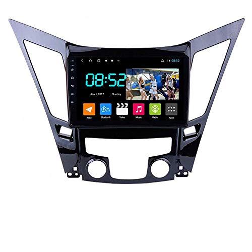 Android 8.1 Navegación GPS Autoradio 9' 1080P HD Touch Screen Stereo TV para Hyundai Sonata 8 YF 2010-2015, con control en el volante, Bluetooth Hands-Free Mirror, 4G+WiFi 4G+64G-B