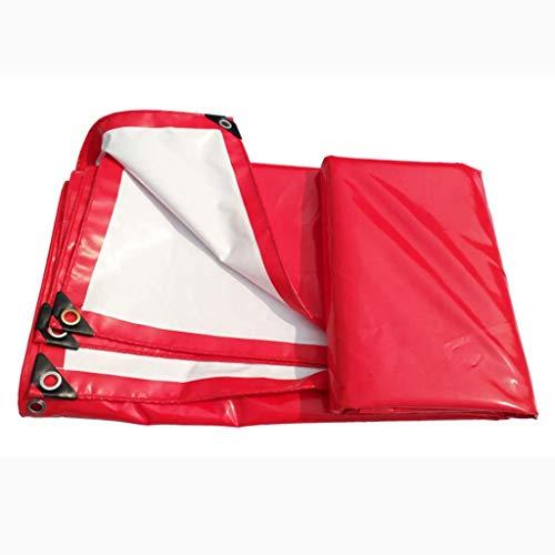 F2 Plane rot und weiß Dual-Use-PVC-Baldachin Top Tuch wasserdicht Sonnenschutz verschleißfeste Feier Zelt regensicher Tuch LKW Push-Pull (Größe: 4x6M)