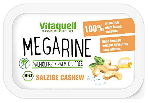 Vitaquell Megarine Salzige Cashew Bio 250g - Pflanzen-Margarine palmölfrei mit frischem Geschmack nach Cashew