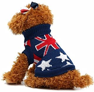 Union Jack Pet Clothes Dog Cat Puppy Winter Warm Knit Sweaters Coats Costume Apparel Dog Sweater - Dog Dog Clothes & Shoes - (L)