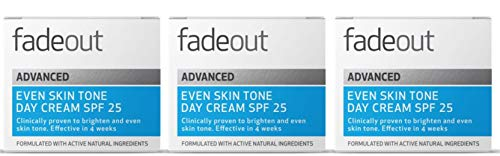 Fade Out Original Even Skin Tone Moisturizer with SPF15 - Face Cream to Brighten and Even Skin tone in 4 weeks, 3 x 50ml