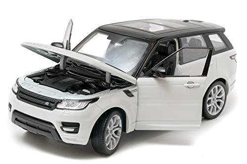 Land Rover Range Rover Sport, weiss/schwarz, Modellauto, Fertigmodell, Welly 1:24