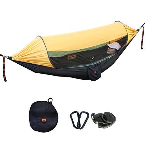 RLJJCS1163 Multifunktionale hochwertigen Fallschirm realen Sonnenschirm insektendichte tragbare Hängematte im Freien biwakieren Schlafen Schaukel 290X145cm (Color : Yellow)