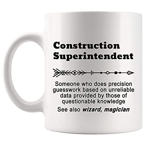 NA Definición Superintendente de construcción Significado Taza Presente Taza de café de 11 oz Mordaza Presente para Hombres Mujeres Camiseta Tazas Tazas 22982N